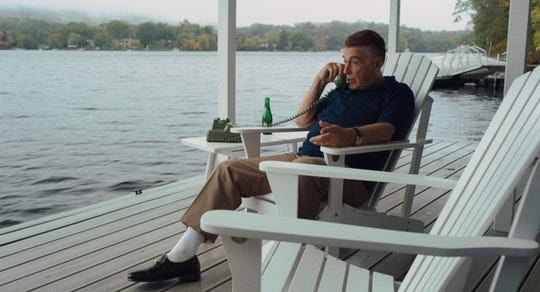 """Near the end of """"The Irishman,"""" Jimmy Hoffa (Al Pacino)is shown talking on the phone from his Lake Orion home. The scene was filmed in Putnam County in New York's Hudson Valley."""