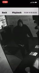 Police seek suspect in Wing Snob burglary in Oct. on Detroit's east side.