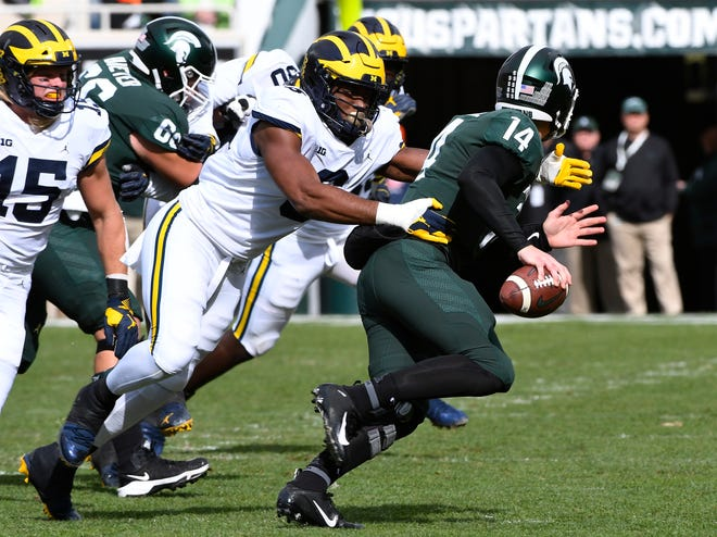 Michigan plays host to Michigan State on Saturday in Ann Arbor.