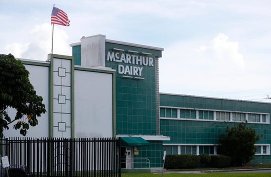 A McArthur Dairy building, a Dean Foods brand, is shown, Tuesday, Nov. 12, 2019, in Miami.