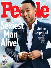 """John Legend on the cover of People Magazine's """"Sexiest Man Alive"""" issue."""
