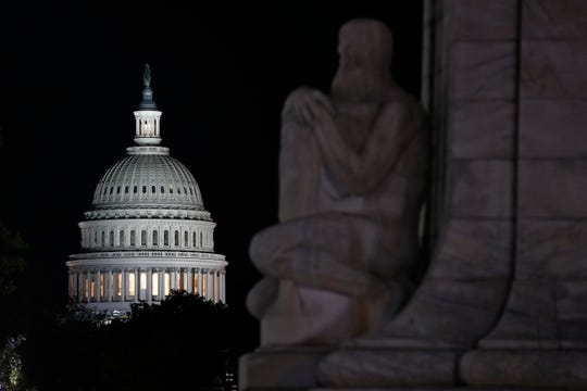 The U.S. Capitol dome in Washington. The public impeachment inquiry hearings are set to begin Wednesday.
