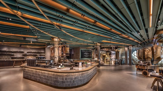 The five-story Starbucks Reserve Roastery in Chicago.
