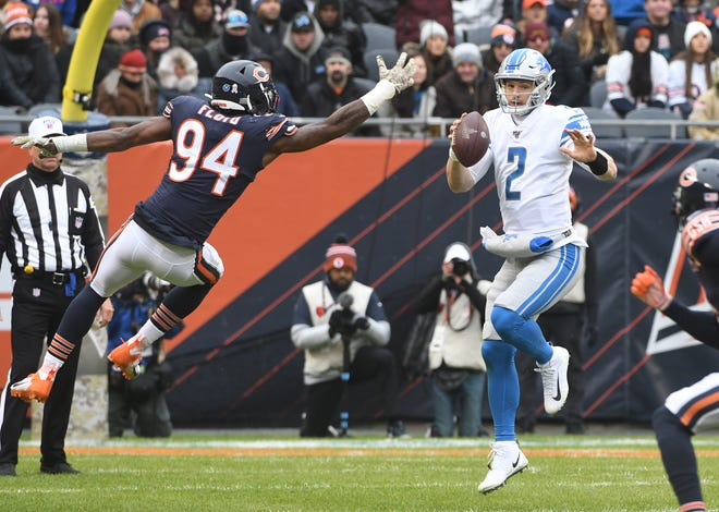 Lions quarterback Jeff Driskel was the team's leading rusher in Sunday's loss to the Bears.