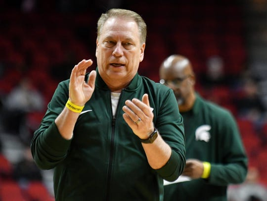 Michigan State head coach Tom Izzo officially welcomed two new recruits to the Spartans for 2020 on Wednesday