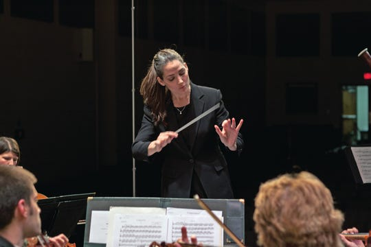 Michelle Merrill will be conducting the Evansville Philharmonic Orchestra Saturday.