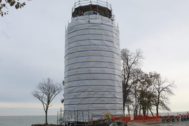 Work on the Marblehead Lighthouse has not been completed, according to the Ohio Department of Natural Resources. The iconic tower's renovations should be done before the lighthouse opens to the public in the spring of 2020.