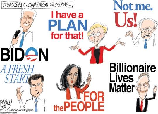 Democrats' slogans.