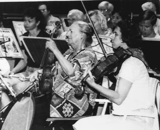 A May 4 dress rehearsal for Gulf Coast Symphony's first concert in 1996.