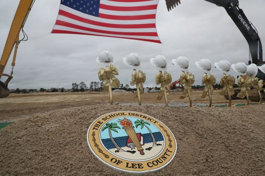 The Lee County School District held a ground breaking ceremony for Gateway High School on Wednesday, Nov. 13, 2019. The mascot will be the Golden Eagles and the colors will be gold and black. The principal is Neketa Watson.
