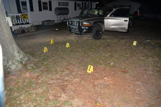 Photos from a SLED investigation show the scene of a fatal deputy-involved shooting involving James Chappell and Deputy Jeremy E. Jones in October 2017 in Simpsonville.