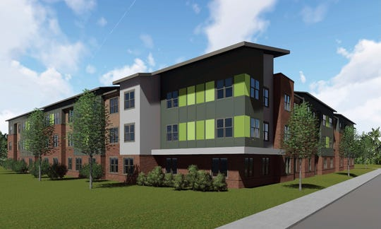 A rendering of the planned Mauldin Center Apartments affordable housing project on Butler Road in Mauldin.