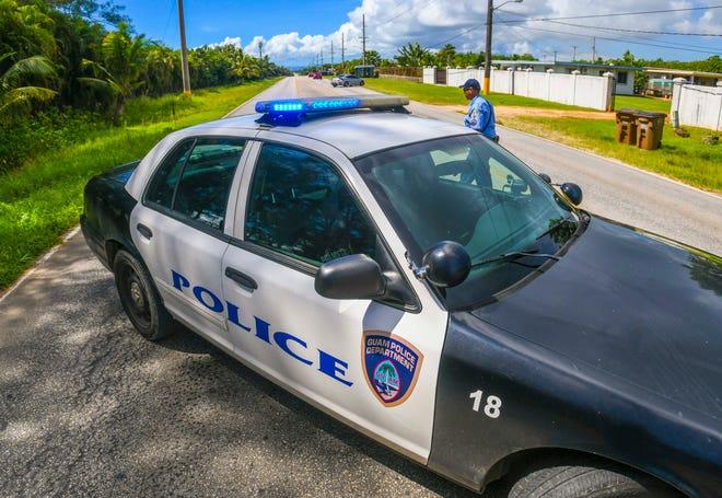 Guam Police Department highway patrol vehicle