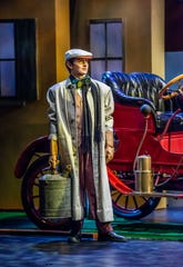 IndyCar driver Zach Veach as Mario makes an appearance in the Indianapolis Opera production of Gaetano Donizetti's Elixir of Love.