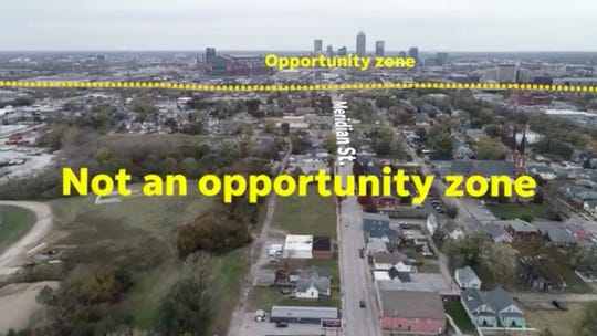 Many poorer sections of Indianapolis are not listed as opportunity zones, while much of the more-developed areas of Downtown Indianapolis are considered opportunity zones.