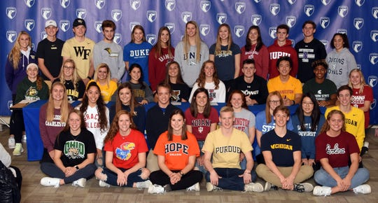 Multiple athletes from Carmel High School signed letters of intent to continue their sports careers at the college level.
