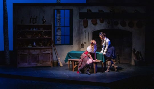 """Production images of The Ohio State University Department of Theatre's 2019 production of """"Bonnets: (How Ladies of Good Breeding Are Induced to Murder)"""" by Jen Silverman."""
