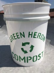 Green Heron Compost picks up compost bins from homes and provides it to local farms.