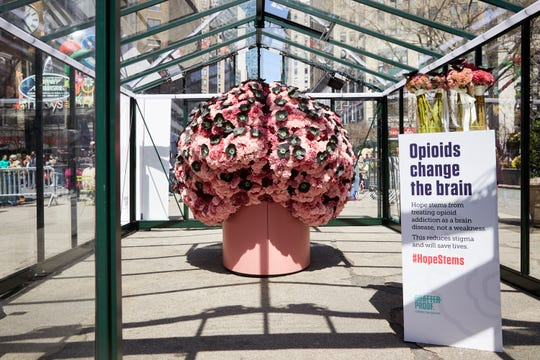 """The """"Hope Stems"""" Brain Flower will be on display from Nov. 18-21 at Purdue."""