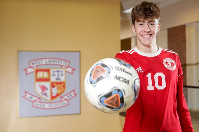 West Lafayette's Carson Cooke is the 2019 Journal & Courier Player of the Year for Boys Soccer.