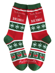 These 'Tis the Season for Bourbon' socks make a perfect Christmas gift from Buy Socks You All based in Louisville.