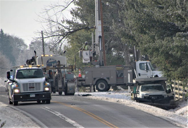 Ohio Edison crews were on the scene of a crash along Ohio 423 south of Somerlot Hoffman Road in Marion County. No injuries were reported. Ohio 423 was closed in both directions for nearly four hours. The road is now open to traffic.