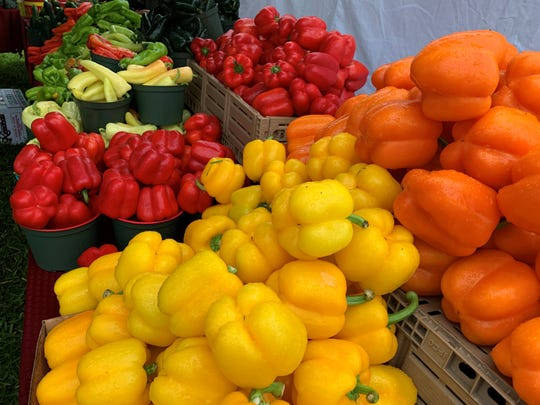 Various peppers on display at the Marco Island Farmer's Market on Wednesday, Nov. 13.