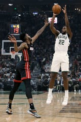 Khris Middleton average of 14 shots a game, so his absence will open opportunities for others.