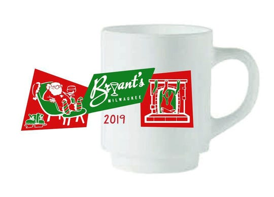 This is the design for this year's special Tom & Jerry mug for Bryant's Cocktail Lounge.