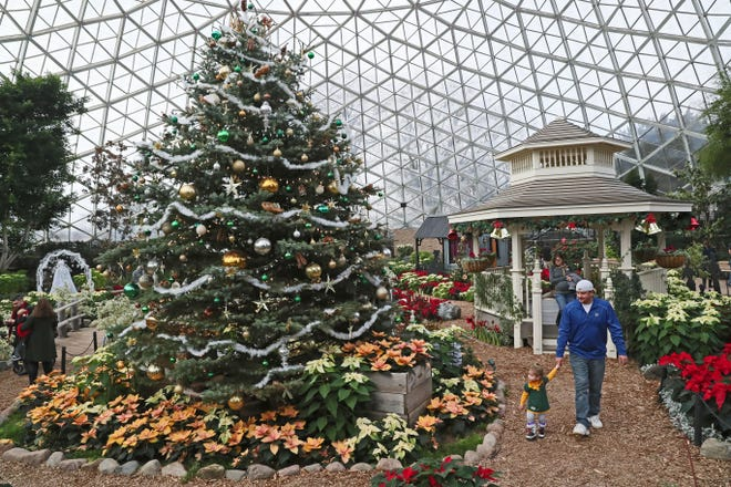 Mitchell Park Horticulture Conservancy, also known as the Domes, is planning a holiday show this year. Shown is last year's event.