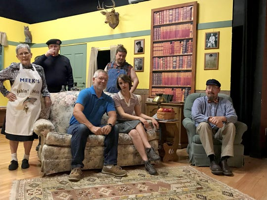 """The cast of """"The Foreigner"""" includes: (from left)Andi Davis, Bill Simpson, Mike Johnson, Mike Horberg, Olivia Wolfe and Michael Reich. Not pictured: Cayden Sabella."""