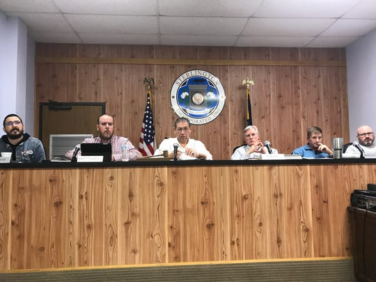 The Sterlington mayor and board of aldermen hear an argument for de-annexing three properties during a regular meeting on Tuesday.