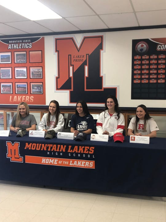 Five Mountain Lakes girls lacrosse players signed National Letters of Intent with NCAA Division I programs on Wednesday morning.