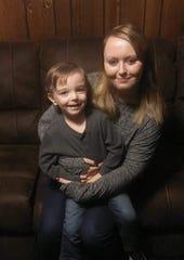 Montgomery resident Ashley Bell and her son Jaxson Jordan, 3.