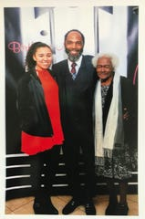 Aniah Blanchard poses for a picture with her father and grandmother.