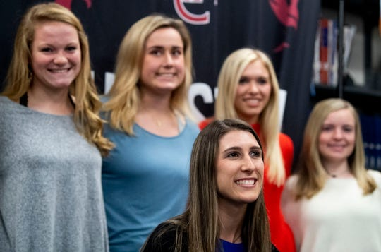 Alabama Christian pitcher Haley Pittman signs with the Florida Gators at the ACA campus in Montgomery, Ala., on Wednesday November 13, 2019.