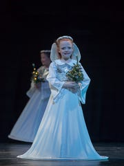 Little Christmas angels in Alabama Dance Theatre's production of Mistletoe on Saturday and Sunday at Davis Theatre in Montgomery.