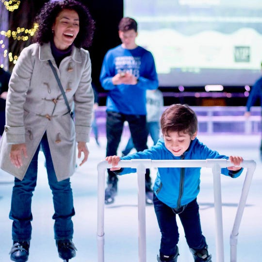 Winterfest at Fountains at Gateway kicks off Nov. 22 and runs through Jan. 9. Don't worry if your kids can't skate. There are special aids to help.