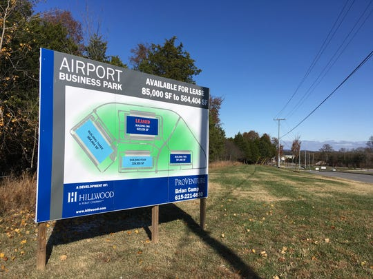 This sign promotes the warehouse development at Smyrna Airport Business Park.