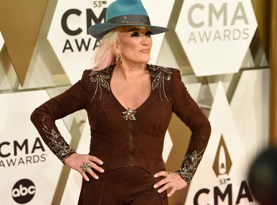 Tanya Tucker on the red carpet at the 53rd Annual CMA Awards at Music City Center Wednesday, Nov. 13, 2019 in Nashville, Tenn.