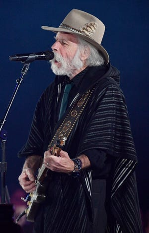 """Bob Weir performs with Margo Price """"Fast as You"""" at BMI's 67th Annual Country Awards Tuesday, Nov. 12, 2019, in Nashville, Tenn."""