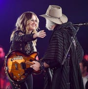 "Margo Price and Bob Weir perform the Dwight Yoakam song, ""Fast as You"" at BMI's 67th Annual Country Awards  Tuesday, Nov. 12, 2019, in Nashville, Tenn."