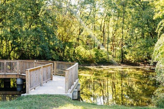 Shannon Pollard restored the pond at Voce where his grandfather, Grand Ole Opry star and Country Music Hall of Fame member Eddy Arnold, watched wildlife.
