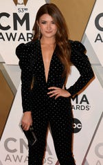 Tenille Townes walks the red carpet before the 53rd annual CMA Awards on Nov. 13, 2019.