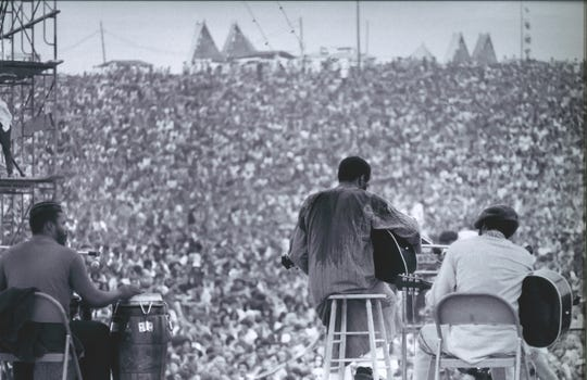 Richie Havens at Woodstock, part of  the photo exhibition at the Collier County Museum