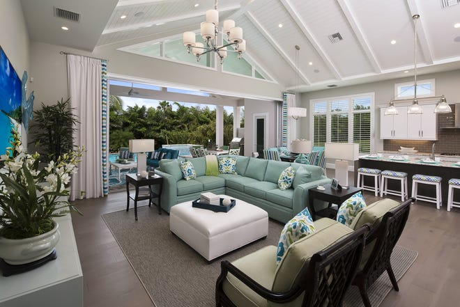 Seagate Development Group's furnished Sea Breeze I model is one of four models now open for viewing and purchase at Windward Isle.