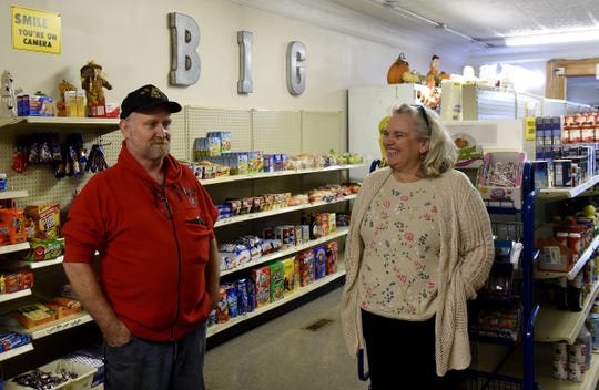 Todd and Shelly Belcher talk about their process in naming the new grocery store on Newark's south end. The business, B.I.G Corner Store and Drive Thru, is named after the three things they wanted to provide the community: beverages, ice cream and groceries. The residents on the south end and in Little Texas had no convenient place to purchase food before the store's opening.