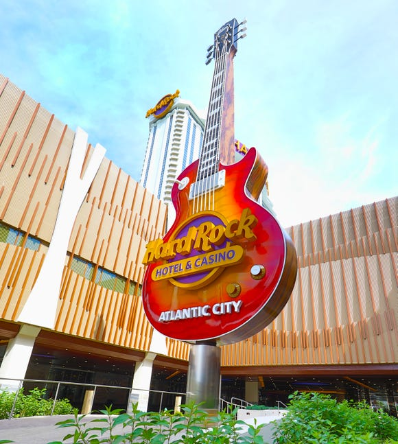 Exterior of the Hard Rock Hotel & Casino in Atlantic City