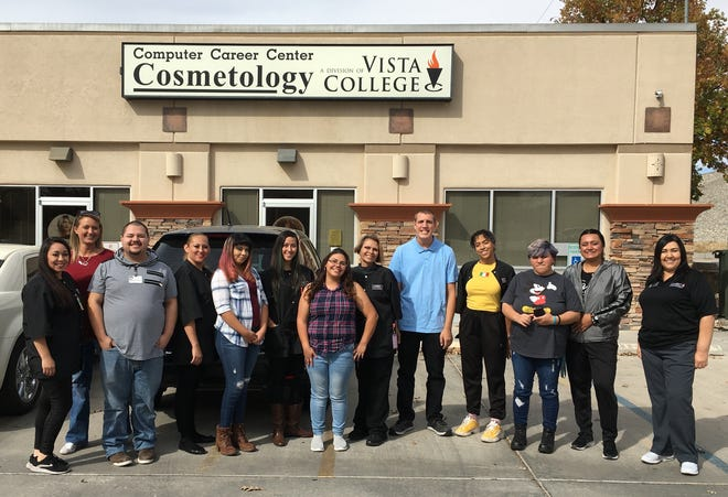 Brenda Renteria and her students from Vista College gave the interns from Project SEARCH a free makeover.  Her students cut hair and gave the interns tips on hair and makeup.