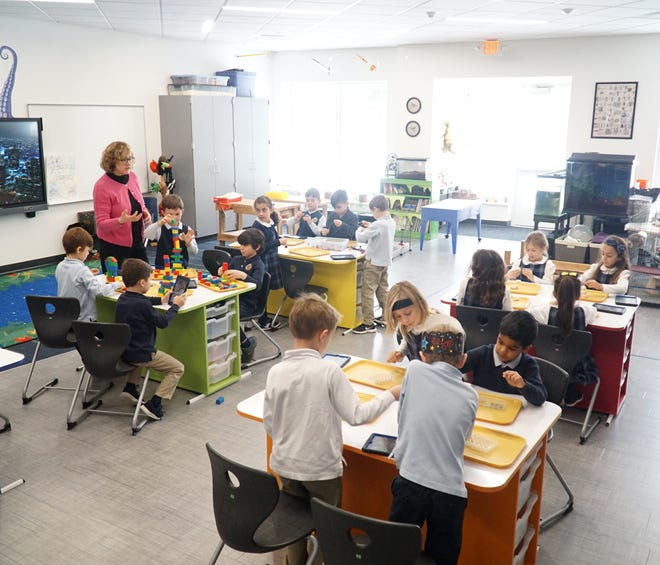 A science classroom at Country Day's Lower School.